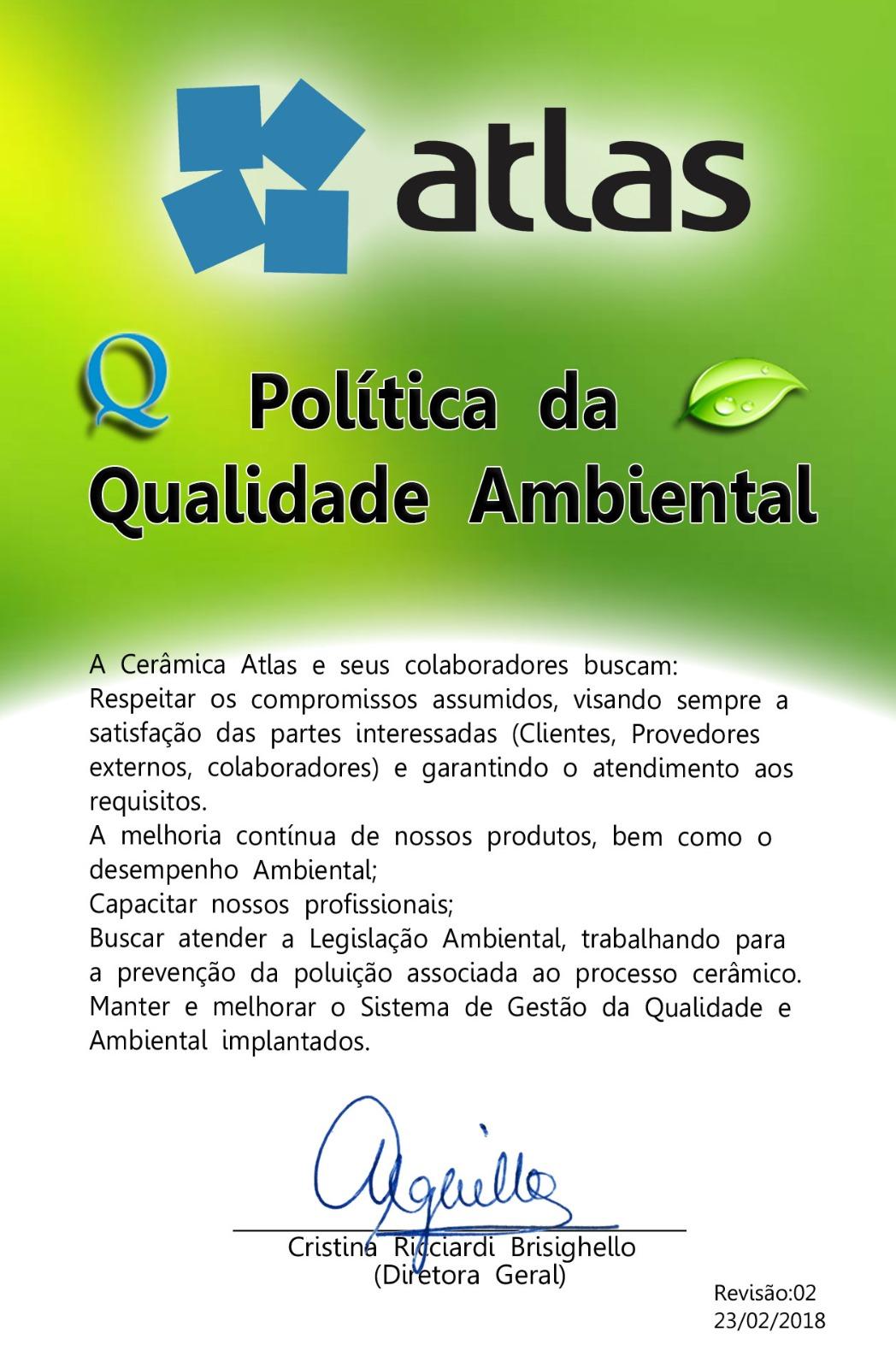 POLÍTICA DA QUALIDADE AMBIENTAL